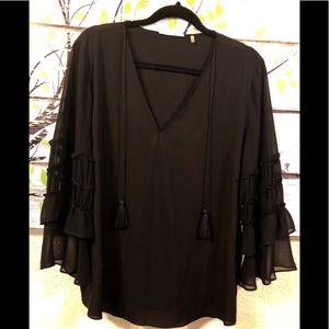 T Tahari Sz XL Semi Sheer blouse